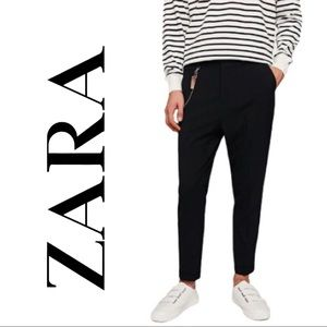 NWT Men's Zara Skinny Ankle Carrot Fit Navy Pant